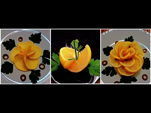 3 DELICIOUS LIFE HACKS HOW TO MAKE LEMON FLOWER LEMON GARNISH FRUIT CARVING - VEGETABLE DESIGN