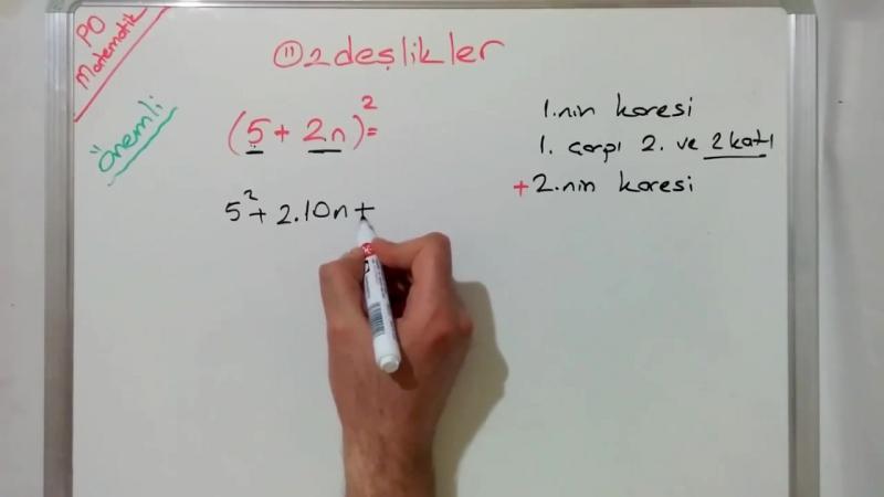 8. Sınıf Özdeşlikler Konu Anlatımı (TEOG 2. Sınav)