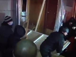 Черкассы.26 января,2014.милиция разогнала участников Автомайдана