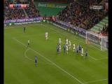 Wayne Rooney stunning late free kick goal vs Stoke City (1-1)