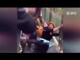 Перепуганные туристы и стеклянный мост