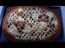 Дрожжевой пирог с маком и изюмом.
