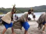 Ceremonia del Choique Purrun en la Playa del Camping Correntoso