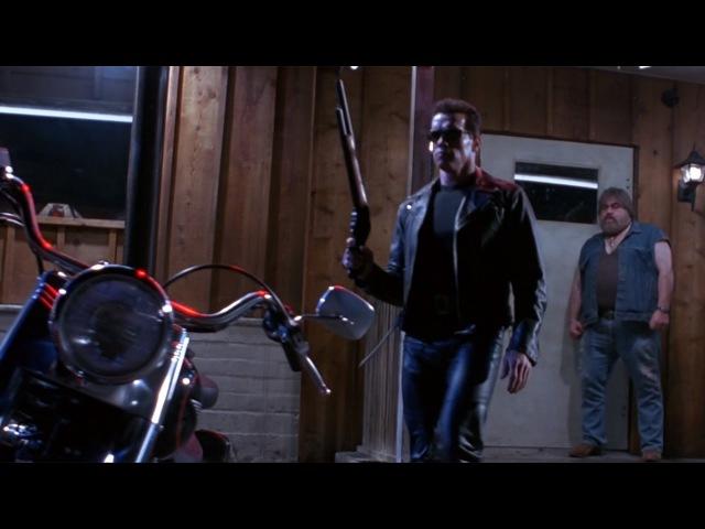 Т 800 забирает солнечные очки у байкера Терминатор 2 Судный день 1991 сцена 2 10 QFHD