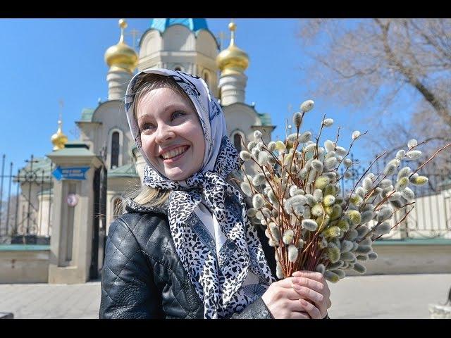 С Вербным Воскресением! Со Святым праздником! With Palm Sunday! With the Holy celebration!