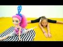 Гимнастика с ЭверАфтерХай — Мишель садится на шпагат! Игры для девочек в куклы...