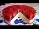 Клубничный Бисквитно Желейный Торт Легкий и Очень Нежный Праздничный Торт Пошаговый Рецепт