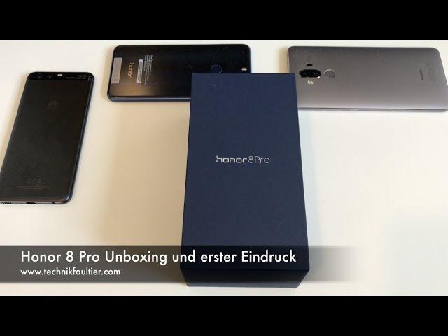 Honor 8 Pro Unboxing und erster Eindruck