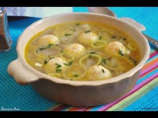 Как приготовить суп с манными клёцками и спагетти с соусом болоньезе, Дети, за ст...