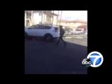 Драка двух негритянок за место на парковке вышла из-под контроля