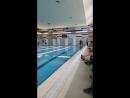 первые соревнования по плаванию.