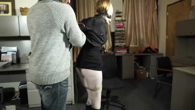 Secretary bound  [bondage tied sex anal porno бдсм бондаж порно bdsm taped rape сиськи gagged Секс big tits Sex ]