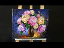 Paint Beautiful Peonies with Acrylic Paints and a Palette Knife
