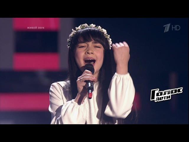 Дениза Хекилаева «Вера» - Слепые прослушивания - Голос. Дети. Земляки! Талант!! Респект