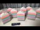 Rainbow Candy 20 layers of cold process soap making cutting