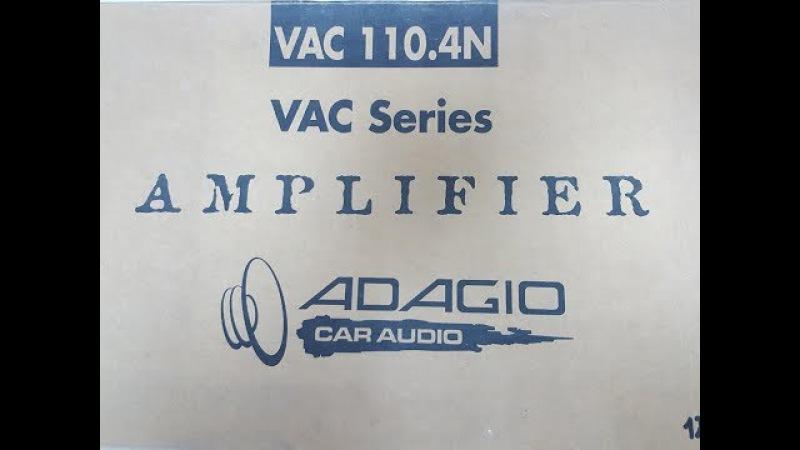 Усилитель Adagio VAC 110.4 - Обзор