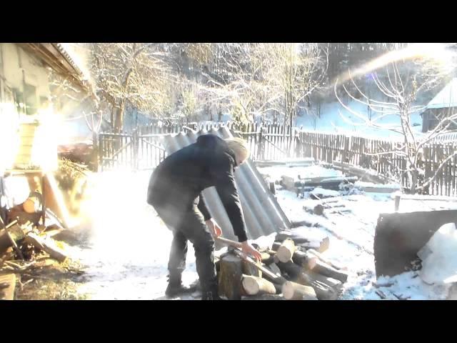 Вуйцьо Рубка дров закарпатье