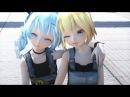 【MMD】No title - Tda Happy farm Miku X Neru HD 1080p