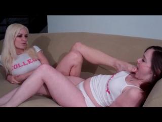 Mallory Page licks Danielle Trixies feet