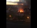 Пожар в Немецкой деревне. 08 июня 2017
