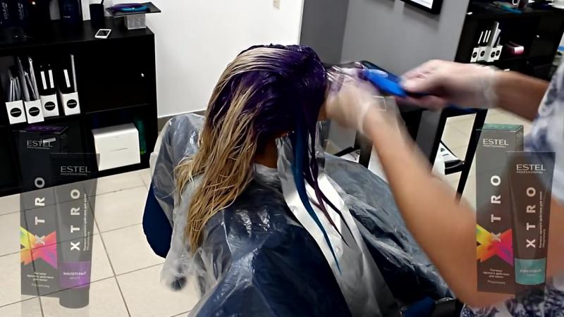 Coloration 26 XTRO ESTEL Фиолетово-бирюзовое окрашивание
