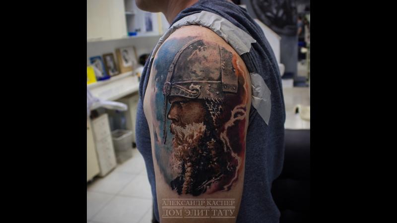 Татуировка в стиле реализм: викинг (realistic tattoo viking)   Дом Элит Тату (Tattoo Studio Moscow)