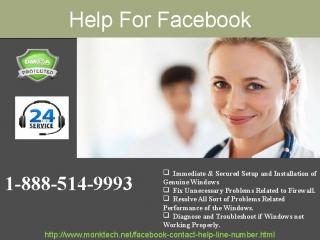 Get instant Help for Facebook 1-888-514-9993