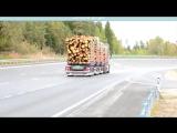 Тормозные тесты автопоезда 90 тонн