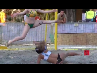 Beach handball girls australia vs argentina shootout highlights