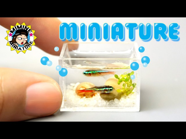 [ENG]미니어쳐 Real 수족관 만들기 ㅁ Miniature - Real Aquarium -미미네미니어쳐 ミミネミニチュア