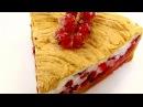 Пирог с безе и красной смородиной