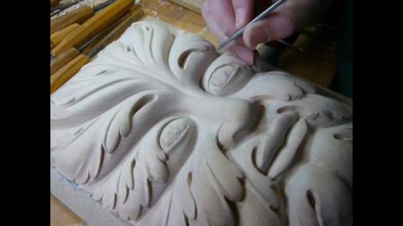 WOODCARVING How-To-Carve a Green Man PART 2