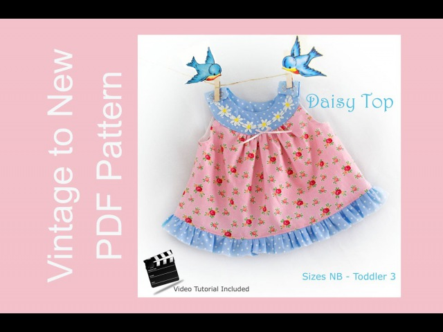 Daisy Top - Circle Front and Back Yoke Top Pattern Tutorial