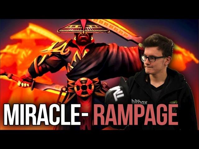 Miracle- Divine Rapier Ember Spirit - EPIC Aegis Snatch RAMPAGE Dota 2