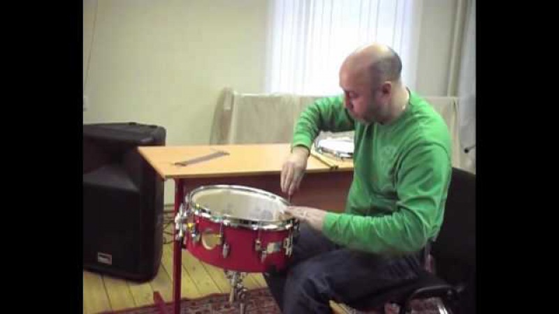 How to tune snare drum