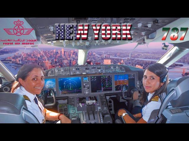 ROYAL AIR MAROC Ladies Piloting BOEING 787 to New York City