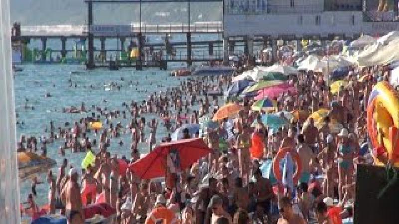 Коктебель город Пляж в Крым на море 2015