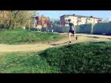 Как научился делать переднее сальто!)))