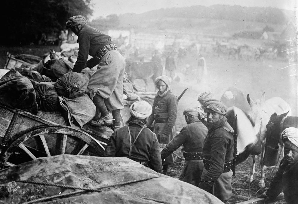 Солдаты из Восточной Африки во Франции, 29 октября 1914 года.