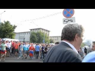 Euro 2012 - Russian hooligans punished polish kurwas