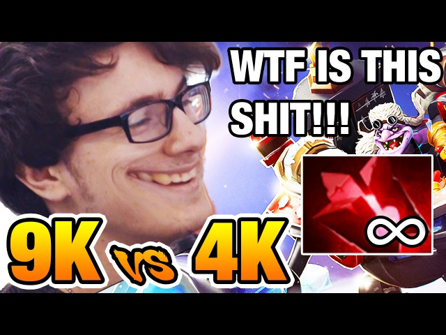 😂9k vs 4k KILL ME PLEASE - Miracle [Timbersaw] Dota2 7.02