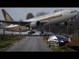 Пилот решает не приземляться. Жесткое касание. Посадка самолета в сильный ветер