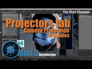 Intro to Mari 3 | Projectors tab , Camera projection and turntables tutorial