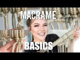 HOW TO Macrame Basics Larks Head, Square Knot, Spiral Stitch, Double Half Hitch