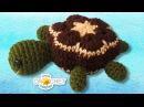 Turtle Stuffed Toy - Crochet Pattern - African Flower Hexagon Motif
