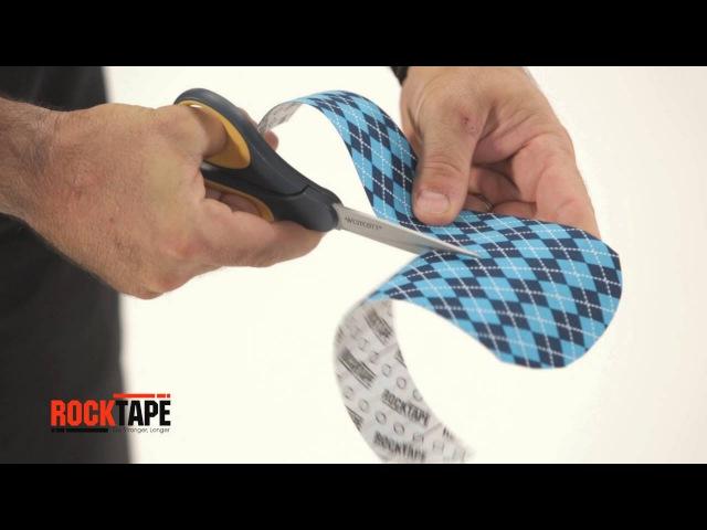 Тейпирование шейного отдела позвоночника (Y-образный способ) от RockTape