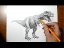 Как нарисовать Динозавра / Рисуем динозавра простым карандашом