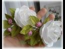 МК Заколка для волос с цветами из фоамирана.