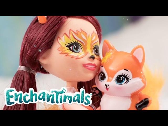 Enchantimals | Felicity Fox Doll and Flick Fox Are Slip Slidin' Away | Enchantimals Toys