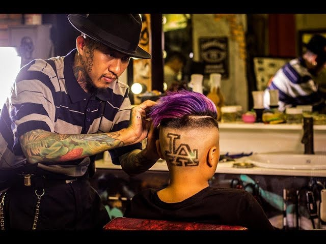 LA Tattoo Hair and Galaxy Colour for dope kid | Liem Barber Shop's Collection
